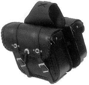 Saddlebags Regular Braided Conchos 12 x 11 x 6 in.