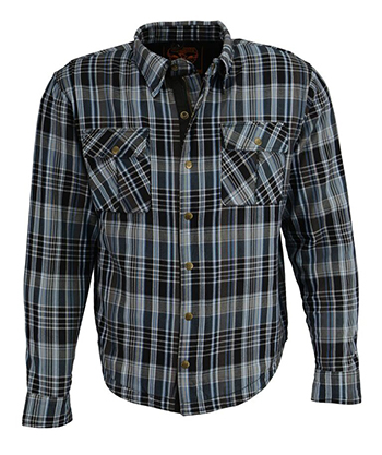 Armored Flannel Shirt - Blue / Gray